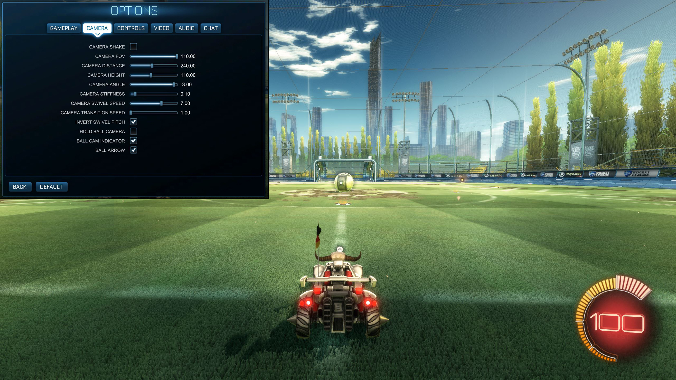 Rocket League Camera Settings Bluey