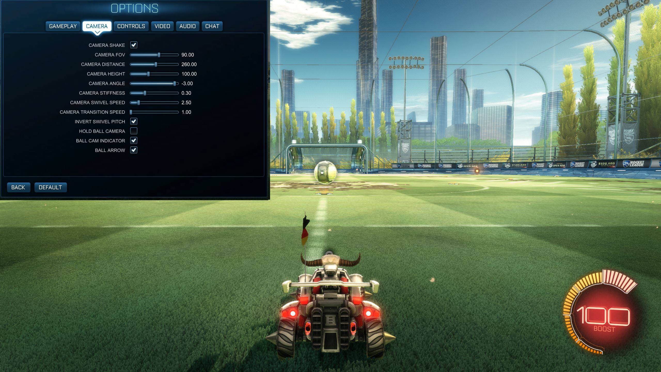 Rocket League Camera Default