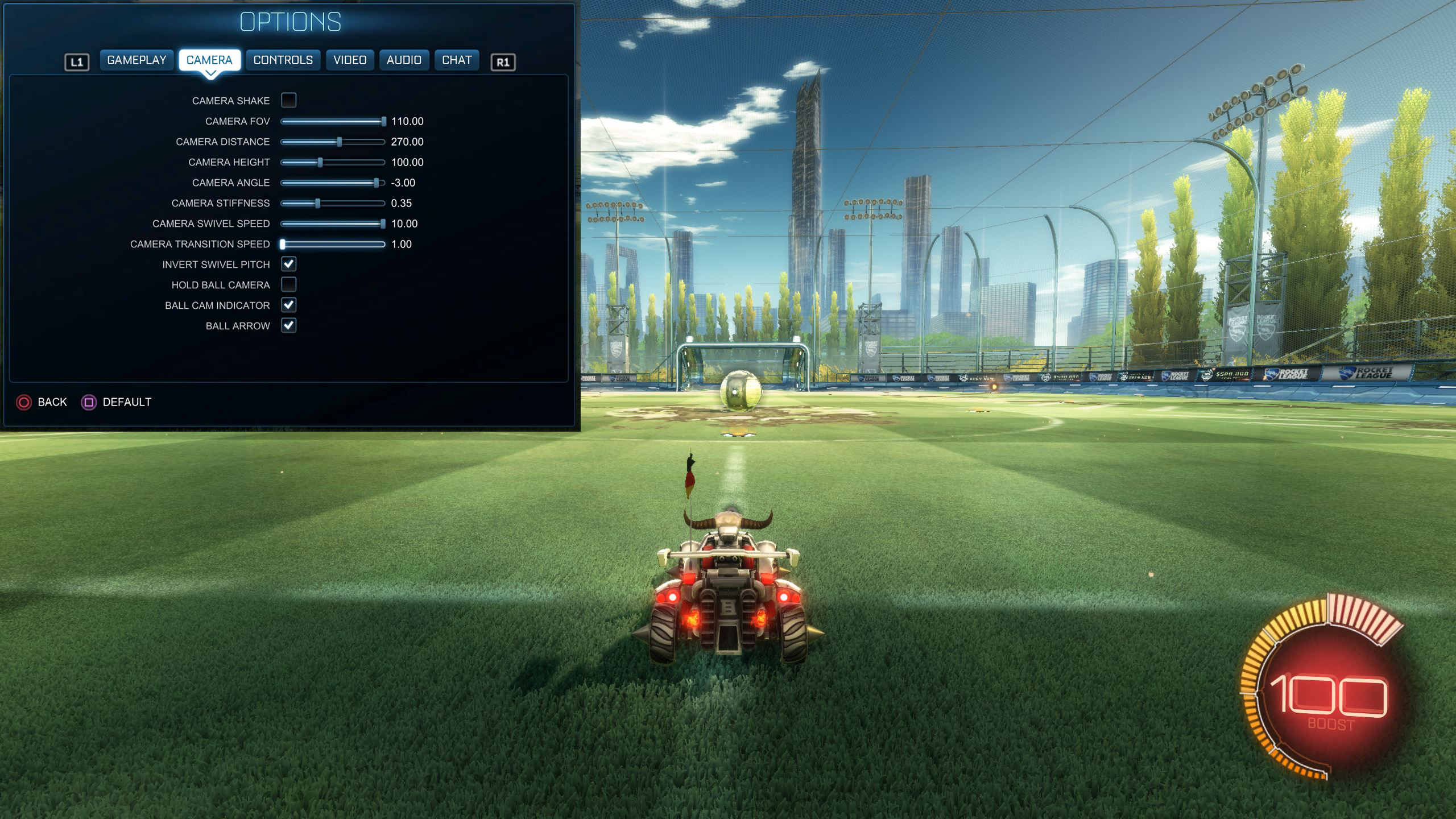 Rocket League Camera Settings Fairy Peak
