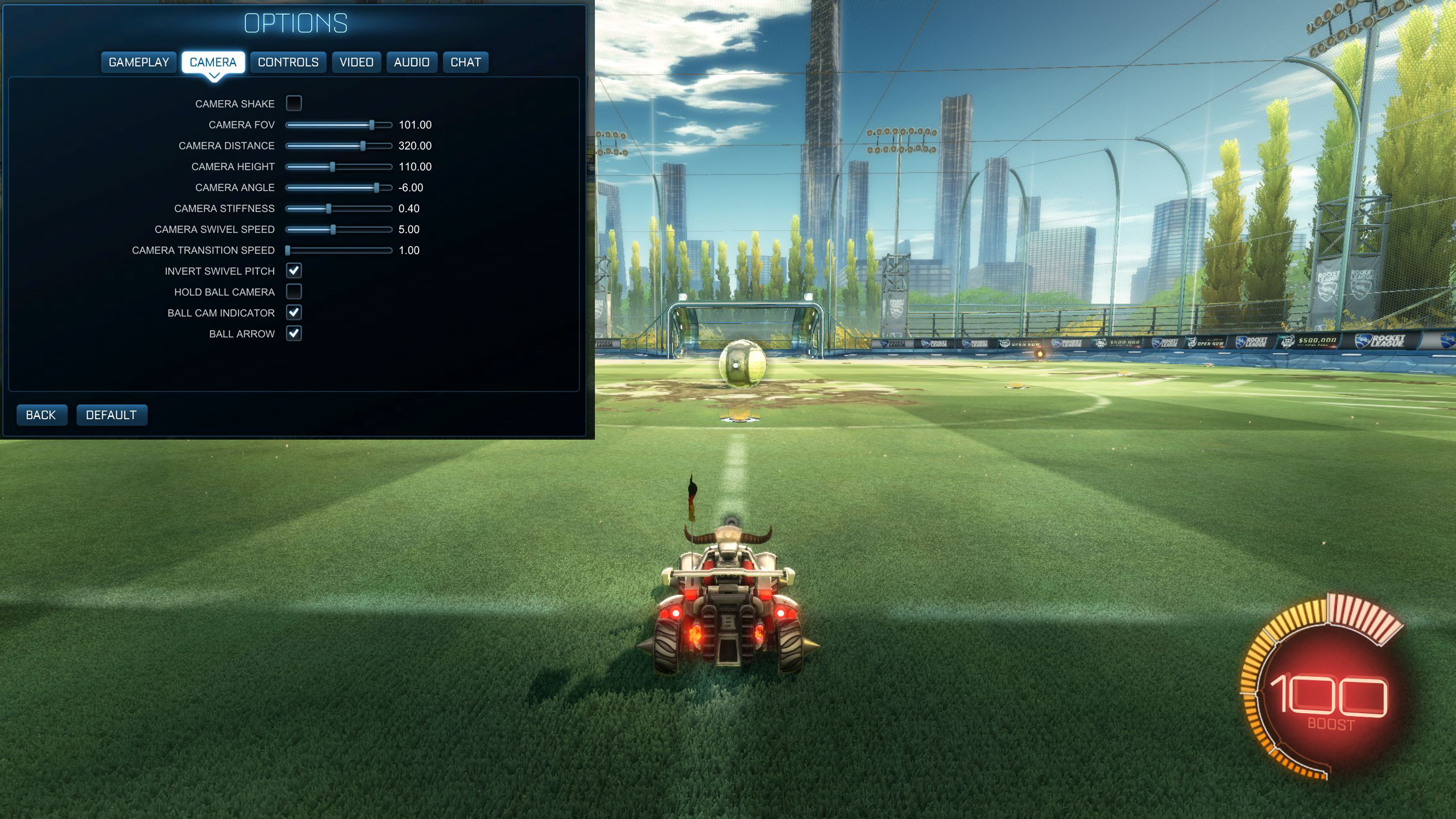 Rocket League Camera Settings Maestro