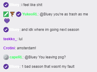 PSG Bluey Twitch Chat Esports Rocket League