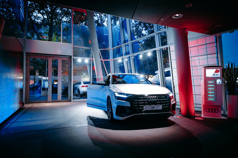 Audi City Berlin is a futuristic showroom in the heart of Berlin